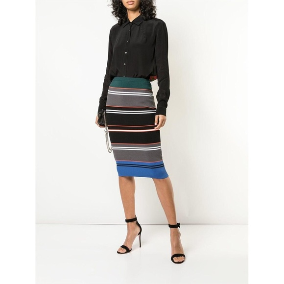 Artelier Color Block Pencil Skirt